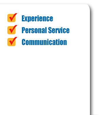 Experience, Personal Service, Communication